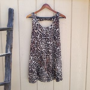 Linea Donatella Shift Nightgown Leppard Print Sz M